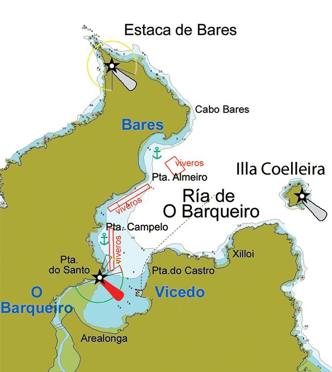 Estaca De Bares Mapa.Ria De O Barqueiro Y Bares Galicia Costa Cantabrico Y
