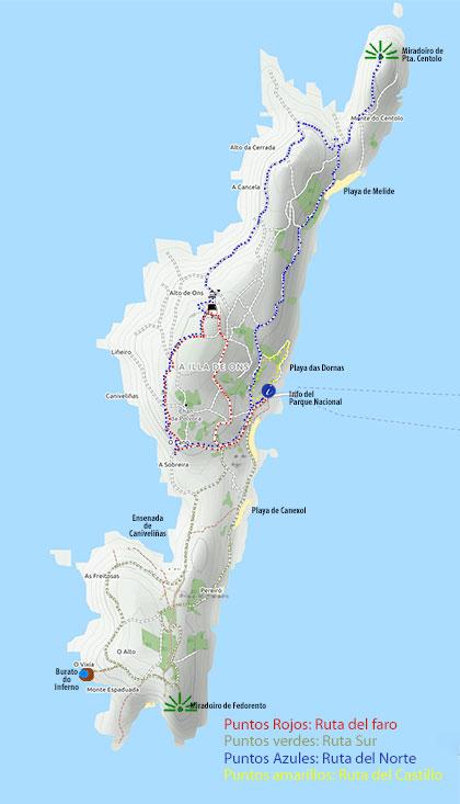 Isla De Ons Mapa.Isla De Ons Descubrir El Paraiso De La Segunda Isla En Extension Del Parque Nacional Illas Atlanticas Galicia Puertos De Mar Fotos Guias Portada Masmar